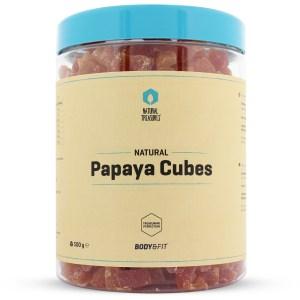 Papaya blokjes