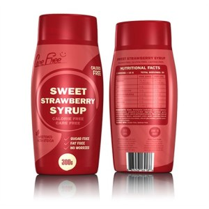 Care Free Syrups - zoete siropen - 1 fles - Strawberry