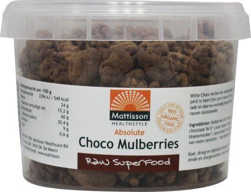 Mattisson Absolute raw choco mulberries bio gezond?