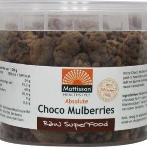 Mattisson Absolute raw choco mulberries bio gezond?