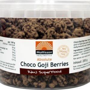 Mattisson Absolute raw chocolate goji berry bio gezond?