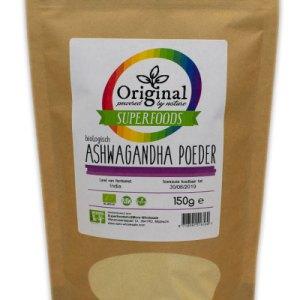 Original Superfoods Biologische Ashwagandha Poeder 150 Gram