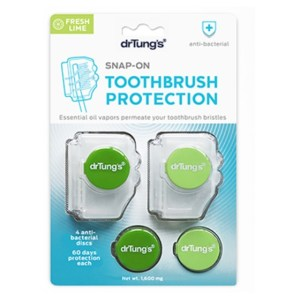 Dr. Tung's Snap-On Toothbrush Protection Fresh Lime 2 in 1