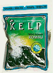 Maine Coast Sea Vegetables Kelp Whole Leaf Wild Atlantic Kombu 56 Gram