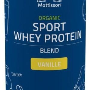 Mattisson Healthstyle Organic Sport Whey Protein Blend Vanille gezond?