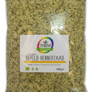 Original Superfoods Biologisch Hennepzaad Gepeld 1000 Gram