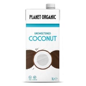 Planet Organic Biologische Unsweetened Coconut Drink 1 Liter