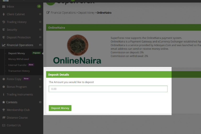 how-to-make-a-deposit-onlinenaira-superforex-mt4-account-amount