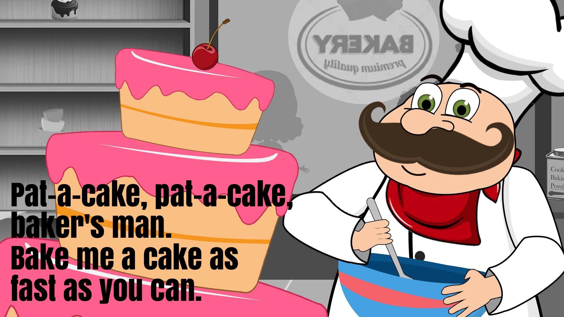 Pat A Cake Bakers Man Nursery Rhyme Lyrics Super Fun Baby