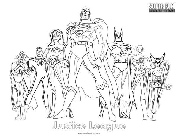 Justice League Coloring Page Super Fun Coloring