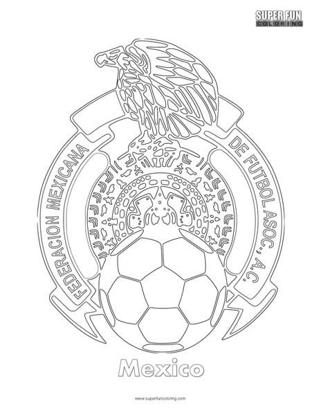 Mexico Football Coloring Page Super Fun Coloring