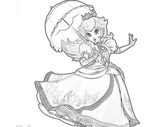 Princess Peach Super Smash Brothers Coloring Page Super Fun