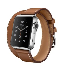 Double Tour 38mm Stainless Steel Case Fauve Barenia Leather Band