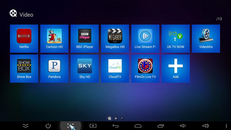 Интерфейс ТВ-приставки Sunvell T95