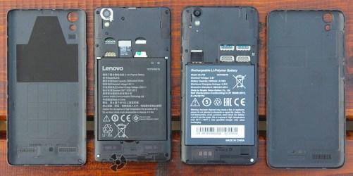 Сравнение аккумуляторов и разъемов Lenovo A6010 Plus