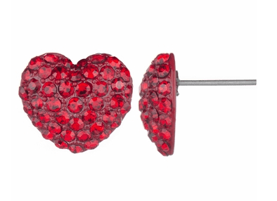 Nina s Red Rhinestone Heart Stud Earrings $15.00