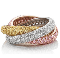 Triple Pave Rolling Band $199.95