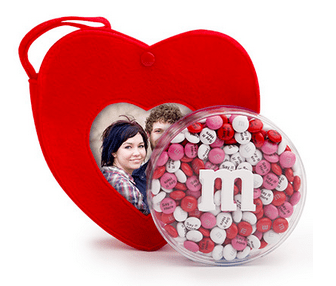 Heart Tote with Personalized Chocolate Candies from MY M M S®
