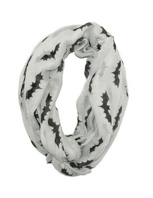 Black Bats Halloween Infinity Loop Scarf