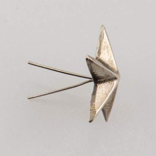 Gwiazdka oficerska II RP do rogatywki wz. 35, stopień wojskowy śr. 16 mm, srebro