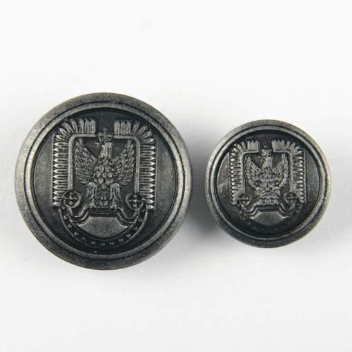 Guzik polskich Sił Powietrznych kolor stare srebro śr. 16 i 22 mm