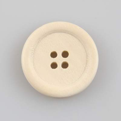Guzik drewniany z obrzeżem, 2 dziurki, 25 mm DIY