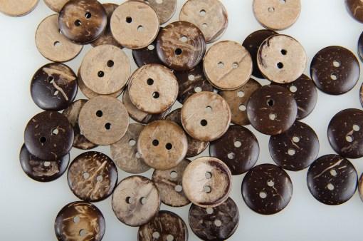 Guziki kokosowe do przyszycia 12 mm