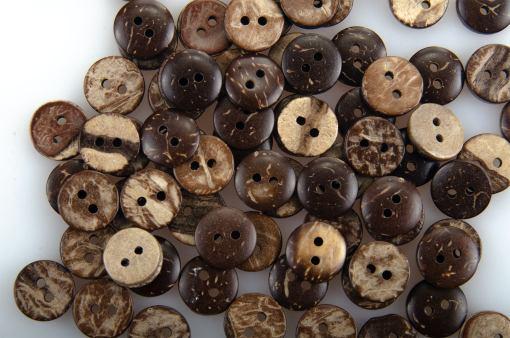 Guzik kokosowy do przyszycia 10 mm