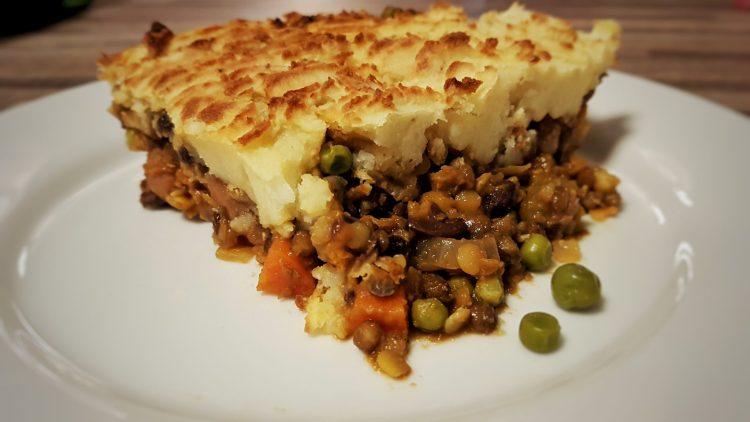 Vegan Lentil and Aduki Bean Cottage Pie