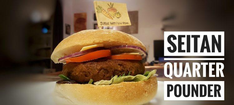 Vegan Seitan Quarter Pounder Burger