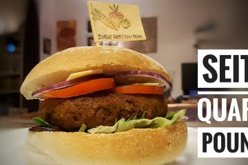 Vegan Seitan Quarter Pounder Burger
