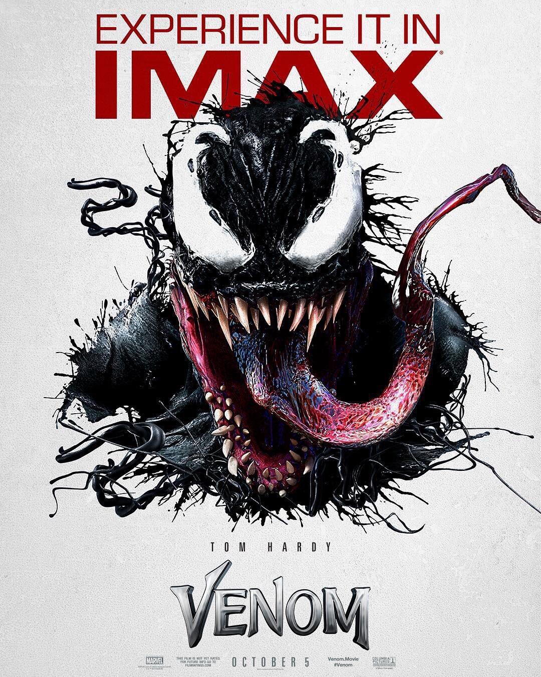 Venom' gets a vicious IMAX poster - Superhero News