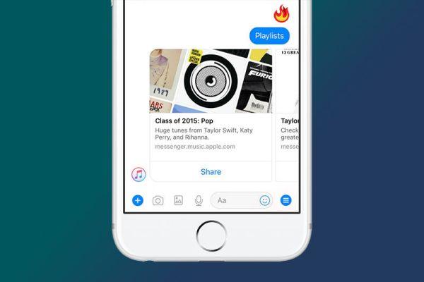 Apple Music Bot Arrives on Facebook Messenger