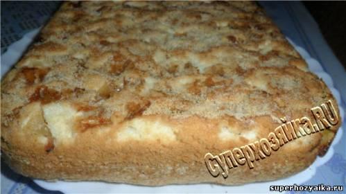 Яблочный пирог со сметаной. Рецепт с фото. Яблочный пирог ...