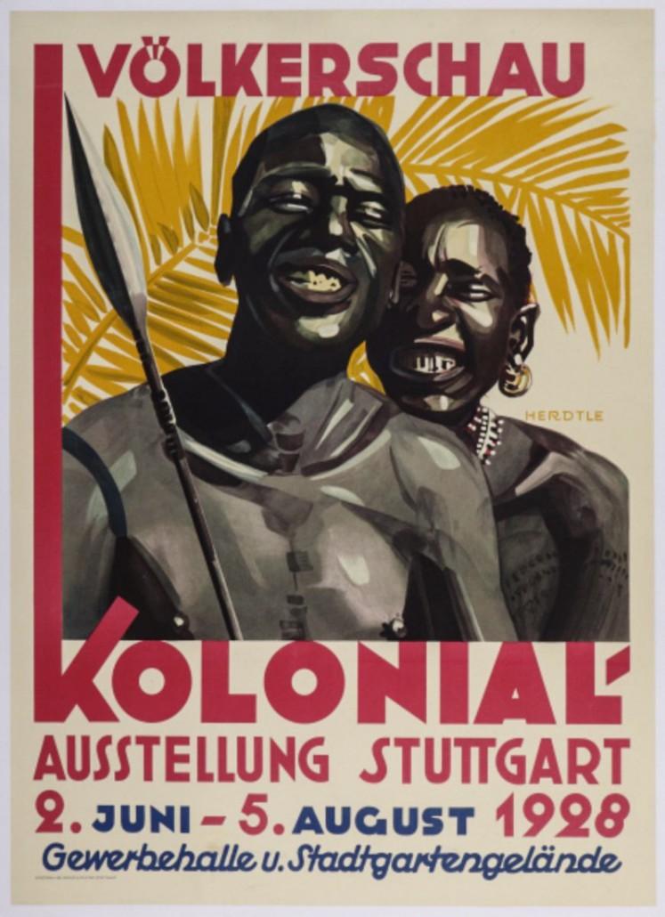 Almanya'daki insanat bahçesini tanıtan bir poster