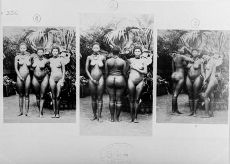 Bu kadınlar Paris hayvanat bahçesinde değişik vücut hatları yüzünden tutuluyordu. Beyazlar bunların kalçalarını görmek için ziyaret ediyorlardı.