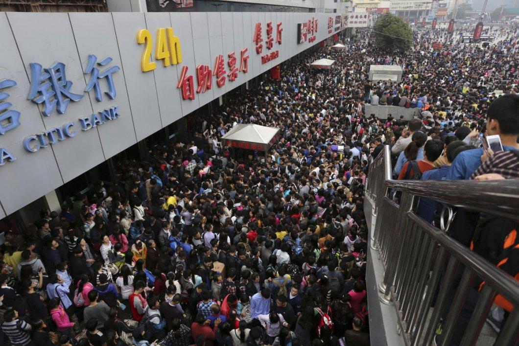 7 gün süren Çin Kuruluş Bayramında seyahat eden 480 milyon yolcudan sadece birkaçı