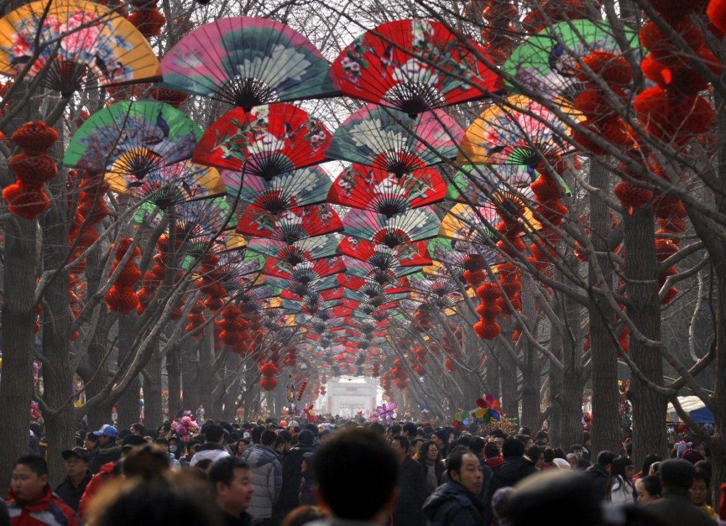 Çin yeni yılında sokaklar