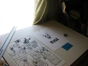 Arigon's drawing board