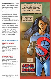 Super Indian promo postcard back