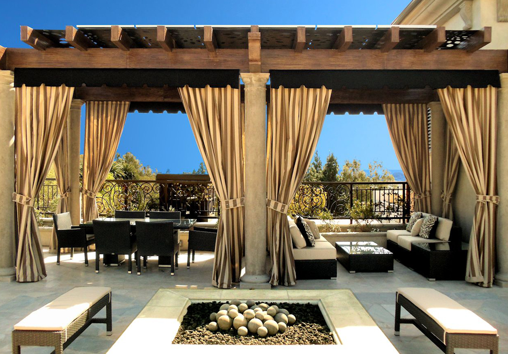outdoor curtains drapes and roller