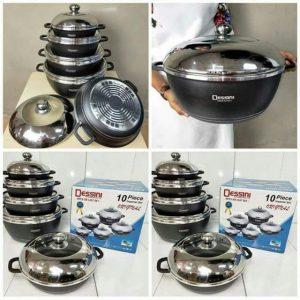 10pcs dessini cookware set