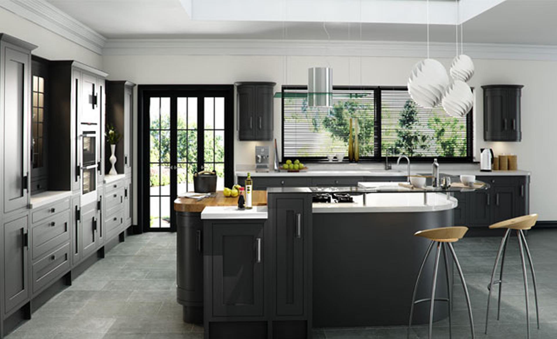 Kitchen Design Iona Inframe Painted Graphite