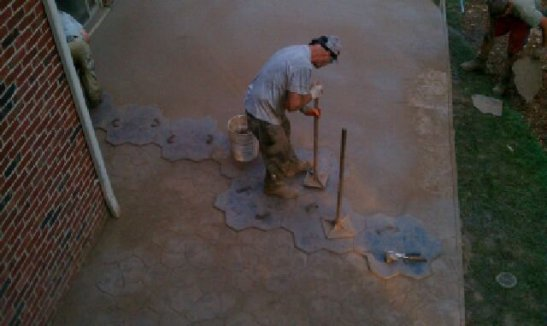 Colored Stamped concrete 2