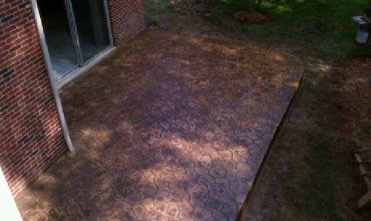 Stamped concrete Walkout