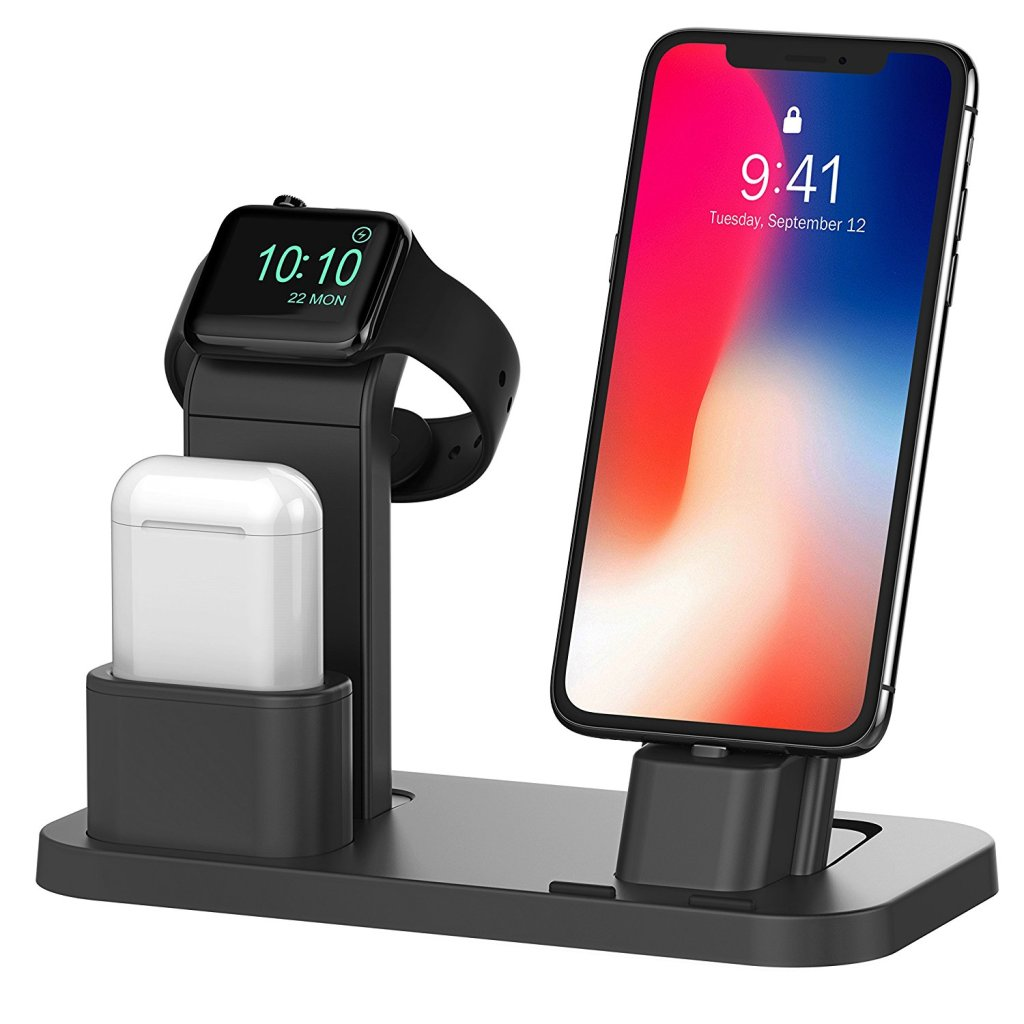Superior Digital News - Beacoo Adjustable Apple Watch, AirPod, and iPhone 3-in-1 Charging Stand and Media Stand