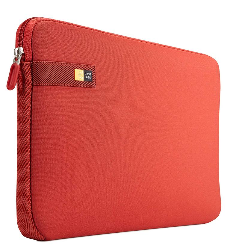 Case Logic Laptop and MacBook 13.3 Inch Protection Zip Sleeve - Brick Red