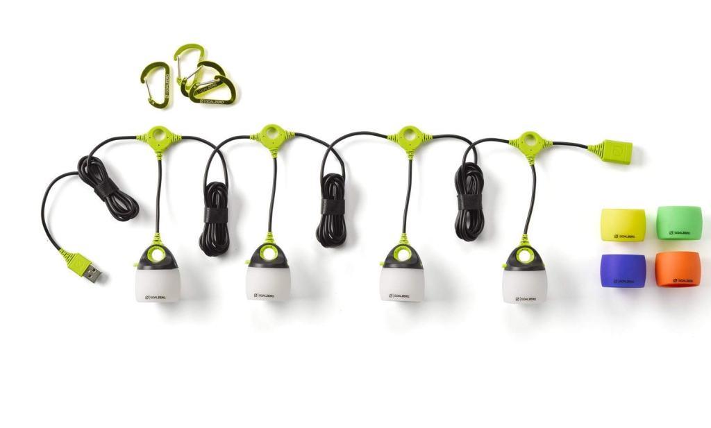 Superior Digital News - Goal Zero Light-A-Life Mini Quad Lantern with Carabiners, Standard Shades, and Muli-Colored Shades