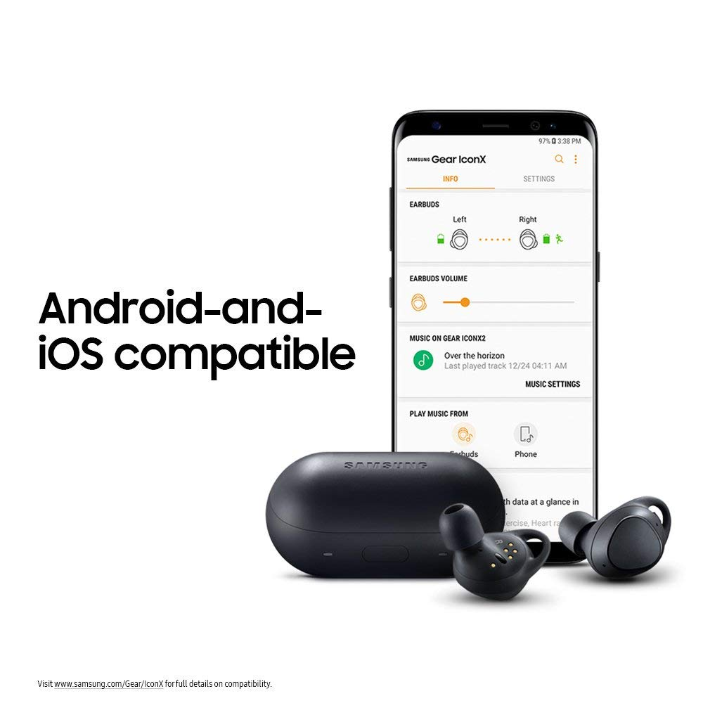 Superior Digital News - Samsung Gear IconX (2018 Version) True Wireless Earbuds - MP3 Storage - Fitness Tracking - Charging Case - Android and iOS Compatible