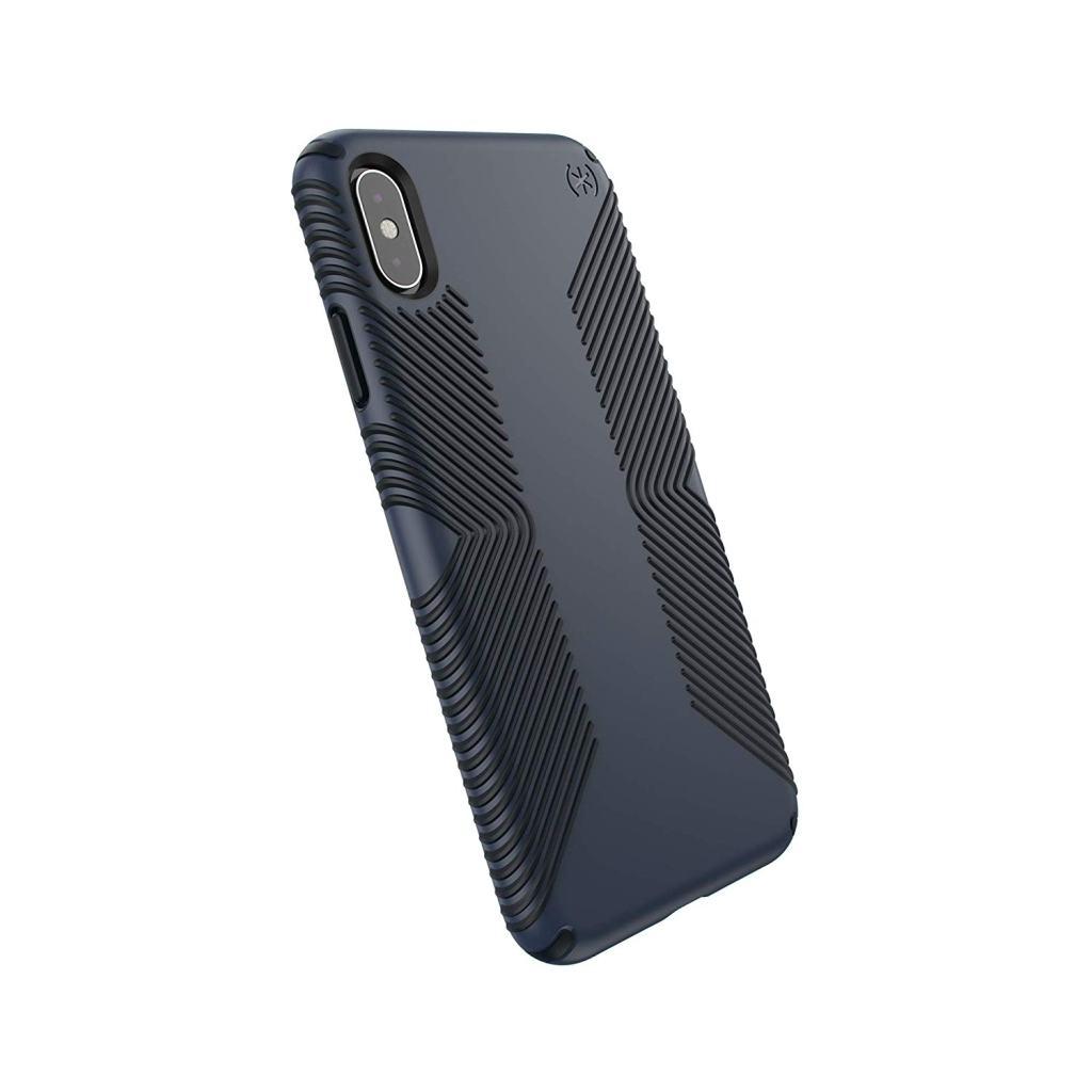 Superior Digital News - Speck Presidio Grip iPhone XS Max Case - Black-Midnight Blue - Back